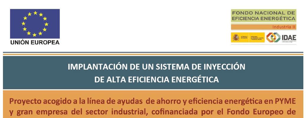 Rotecna, s.a., beneficiaria de las ayudas del Fondo Europeo de Desarrollo Regional (FEDER)