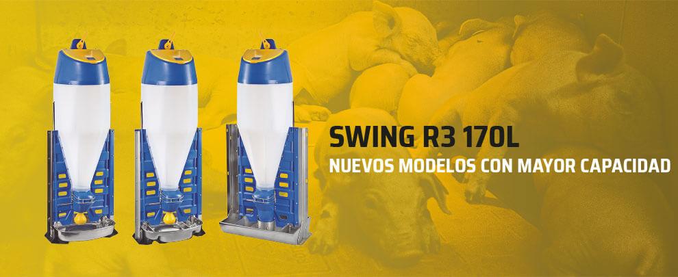 SWING R3, nous models amb una capacitat de fins a 170 litres