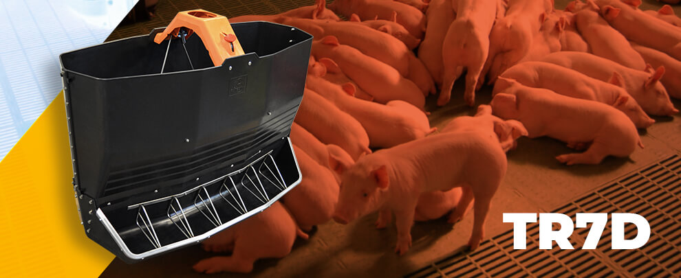 TR7D, the large capacity weaning dry feeder with handy regulation