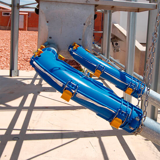 Inside image of the Rotecna Corner for chain feed distribution systems