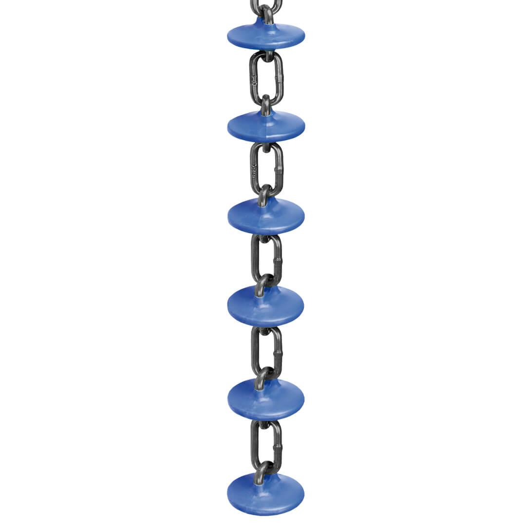 Транспортировочная цепь кормораздачи Rotecna с синими дисками