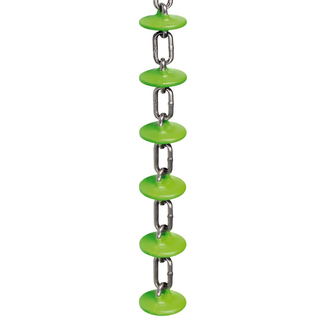 Транспортировочная цепь кормораздачи Rotecna с зелеными дисками