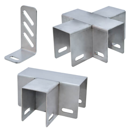 STAINLESS STEEL BRACKETS FOR PP PANELS